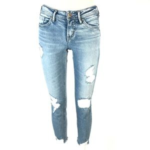 Silver suki skinny crop jeans 25x35